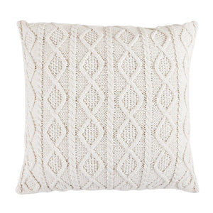Cream Cable Knit Euro Sham