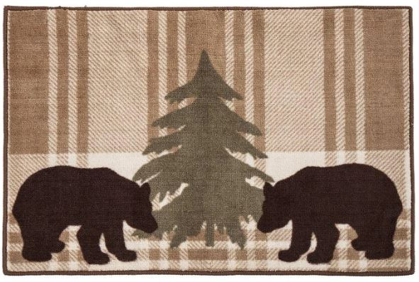 Brown Bear Bath Rug