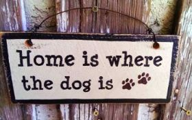 Home is where the dog is- Sign