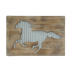 Horse Galvanized Metal Wall Hanging