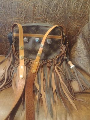 Large Single Flap Fringe Purse