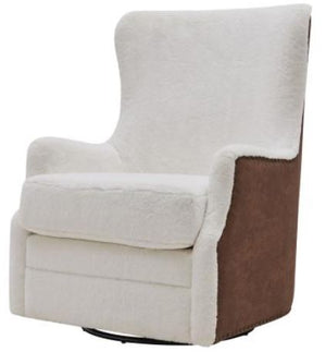 Fauz Fur Swivel Rocker Tufted Chair