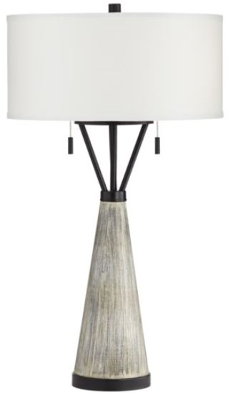 Grey Wash Industrial Table Lamp