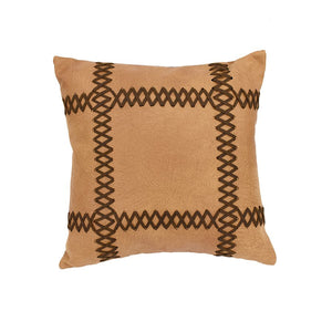 Faux Leather Stitch Pillow