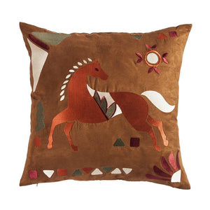 Solace Embroidered Horse Accent Pillow