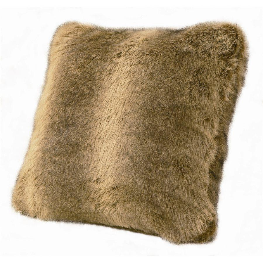 Faux Fur Wolf Pillow