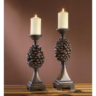 Pine Cone Candleholders