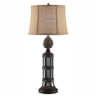 Pine Cone Tower Table Lamp