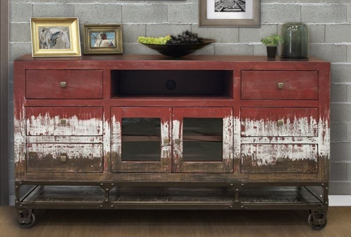 "Red 70"" Tv Console"
