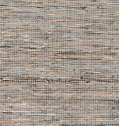 Jute and Leather Hand Woven Rug