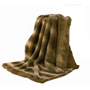 Oversized Faux Wolf Throw