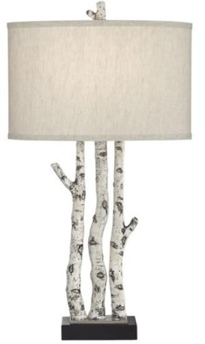 White Birch Table Lamp
