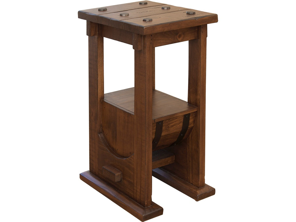 Barrel Chair Side Table