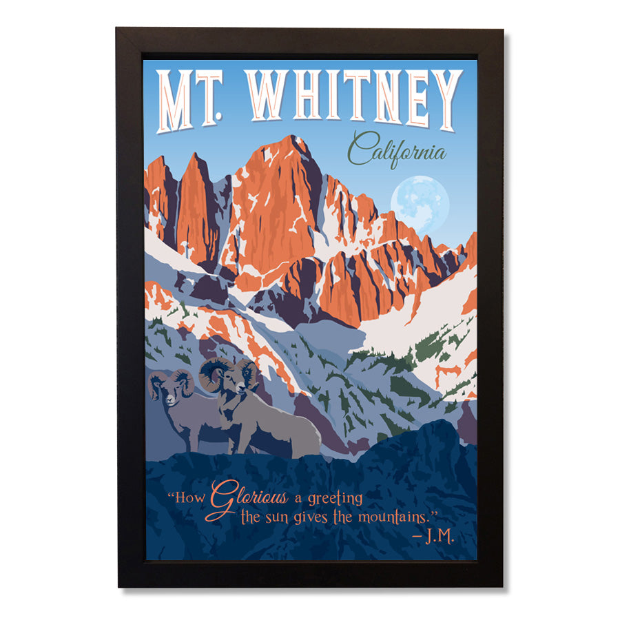 Vintage Mt. Whitney Wall Art