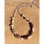 Carved Bone & Freshwater Pearl Necklace
