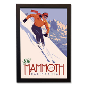 Vintage Mammoth Skier Wall Art