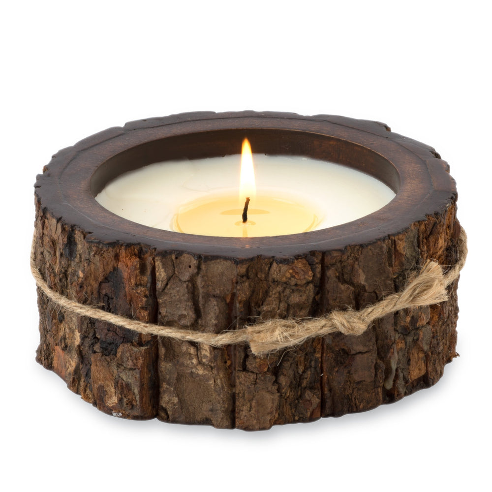 Tree Bark Candle Pot 9 oz