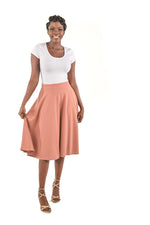 Chloe Blush Casual Skirt