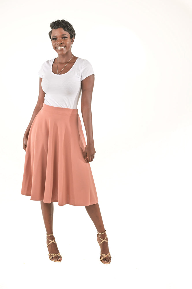 Chloe Blush Casual Skirt - Boutique Amore