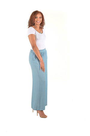 Light Denim Palazzo Pant
