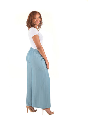 Light Denim Palazzo Pant - Boutique Amore