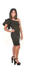 Waverly One Shoulder Little Black Dress