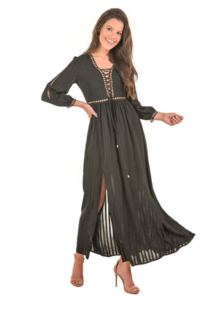 Alissa Black Maxi Dress - Boutique Amore