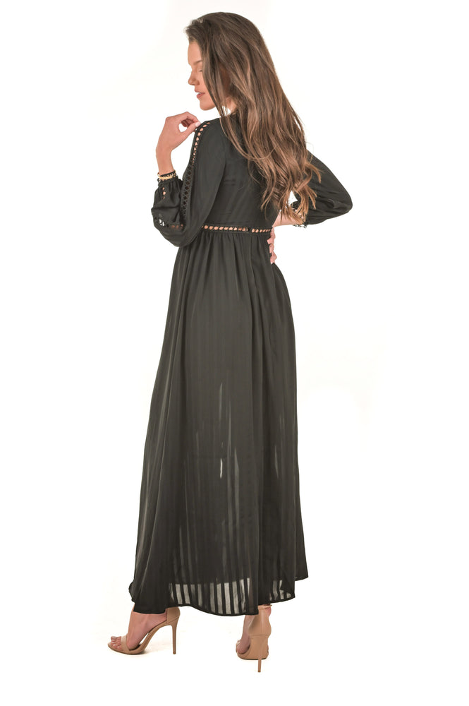 Alissa Black Maxi Dress