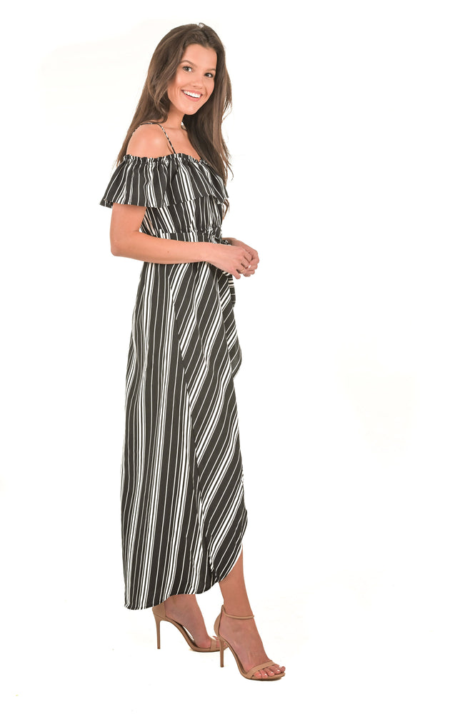 Octavia Open Shoulder Maxi Dress
