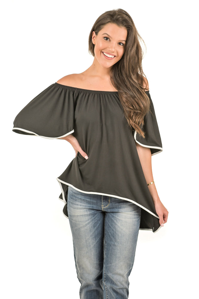 Ella Off-Shoulder Flowy Tunic