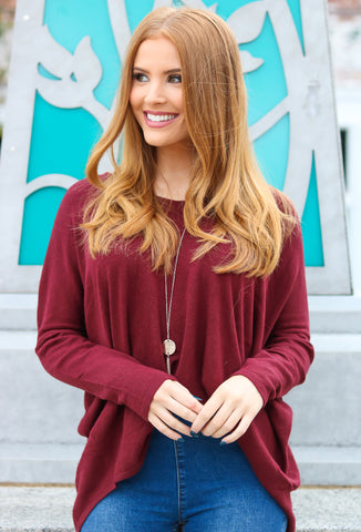 Oversized Slouchy Tunic Top  Sweater