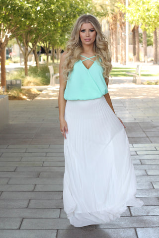 Today Was a Fairy Tale Chiffon Maxi Skirt-White