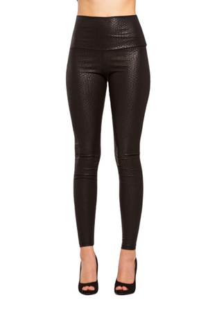 High Waist Snakeskin Print Leggings - Boutique Amore