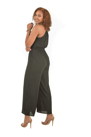 Breille Black Classic Sleeveless Jumpsuit