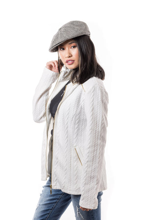 Eva Sweater- Jacket (Ivory)