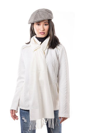Eva Sweater- Jacket (Ivory) - Boutique Amore