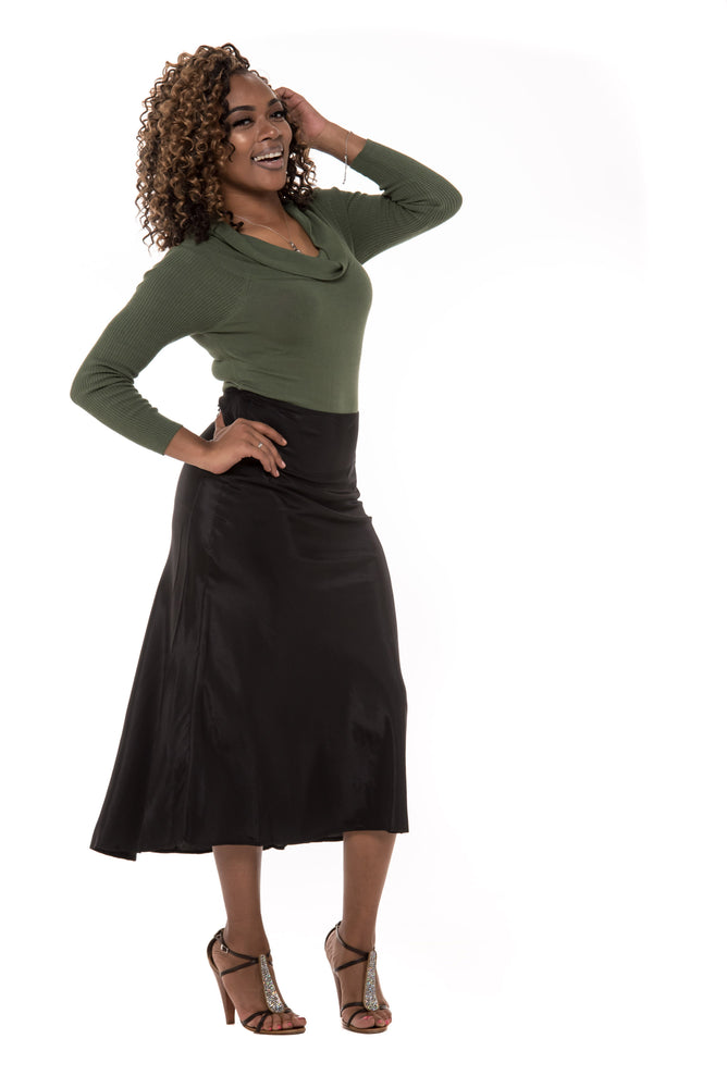 Serina Satin Skirt - Boutique Amore