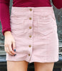 School Girl Corduroy Button Skirt