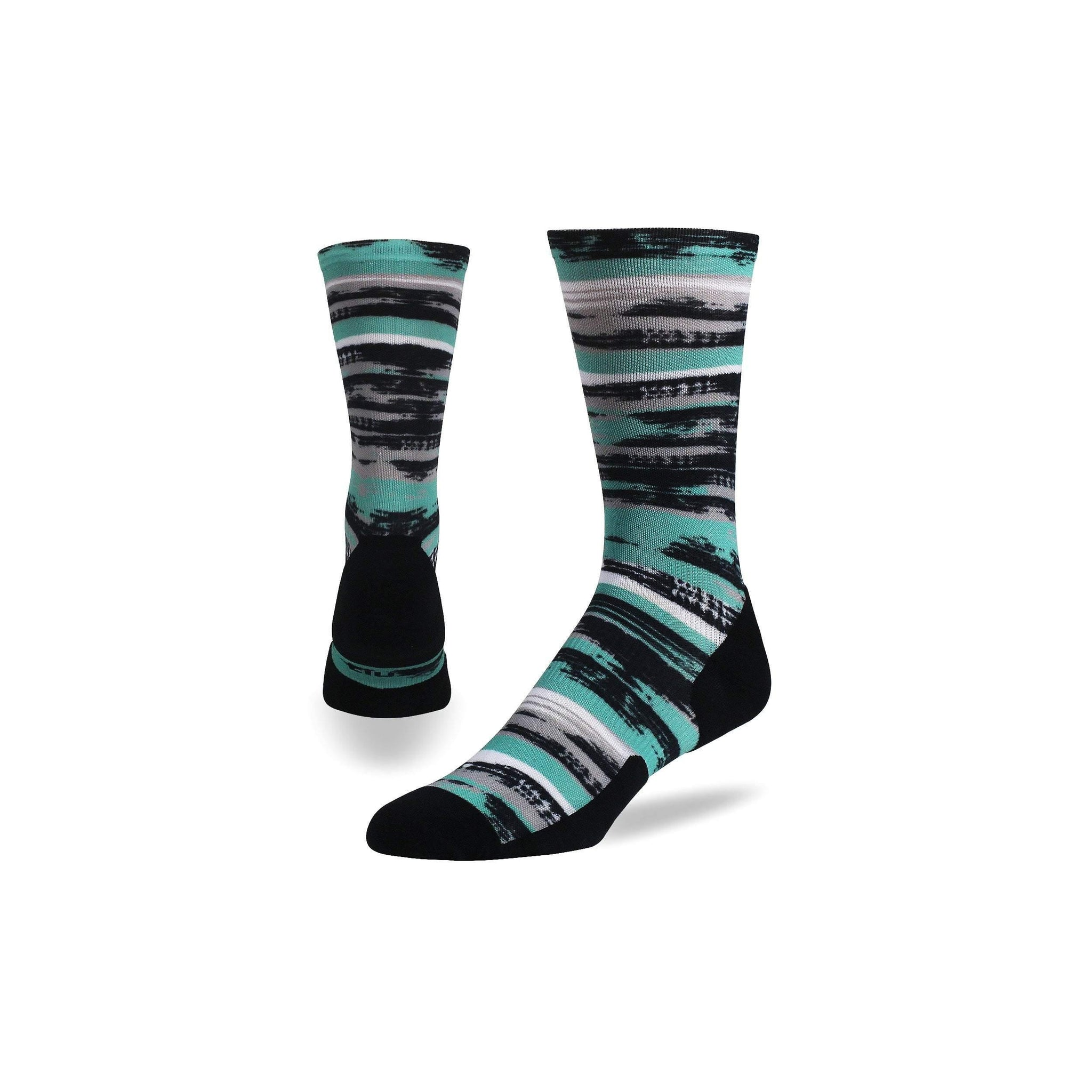 Brush Strokes Run Crew - Graduated Compression Socks