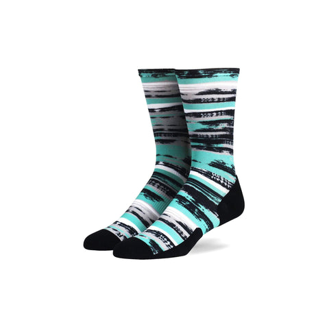 Run Crew Compression Socks - Brush Strokes