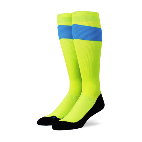 Performance OTC Compression Socks - Neon Yellow/Blue/Black