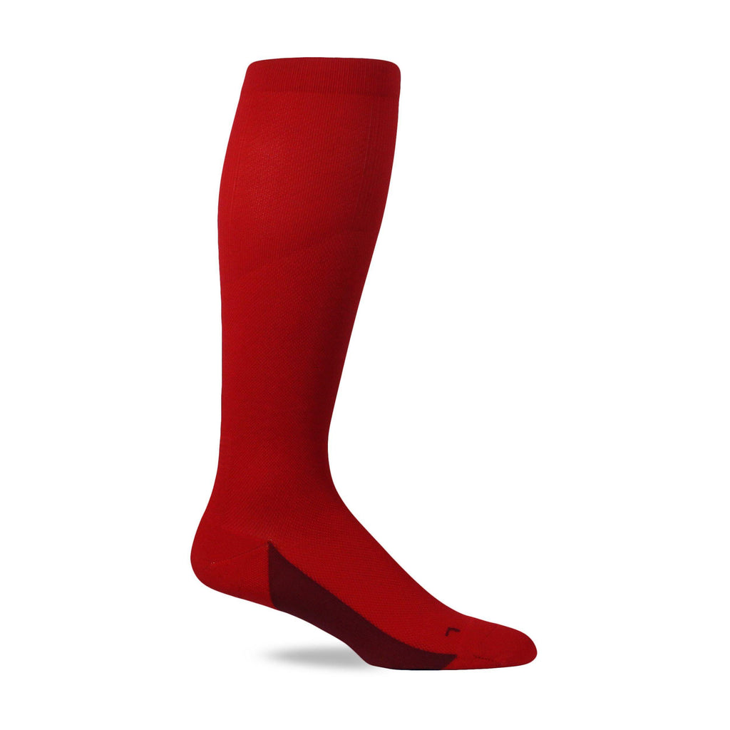Endurance OTC Compression Socks - True Red/Maroon