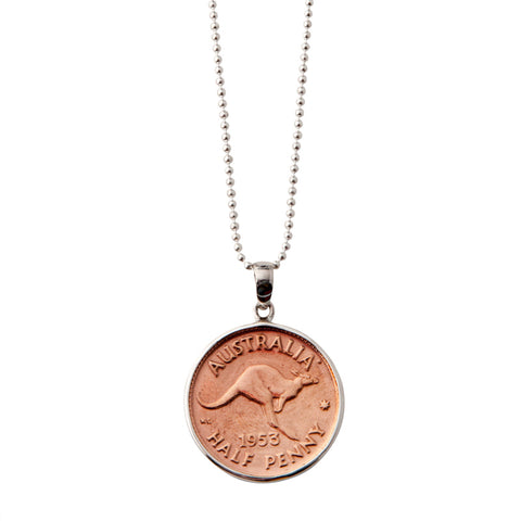 Australian Half Penny Necklace
