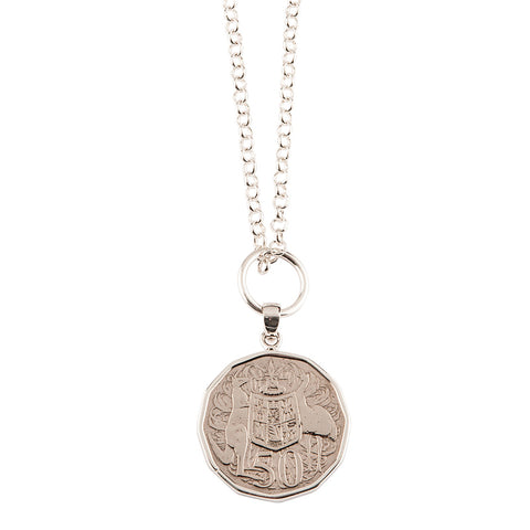 Australian 50c Coin Necklace