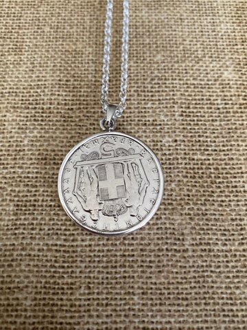 Greek Coin Necklace (GN018)