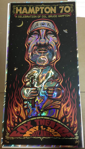 Col. Bruce Hampton 70 Poster Jeff Wood Fox Theatre Atlanta