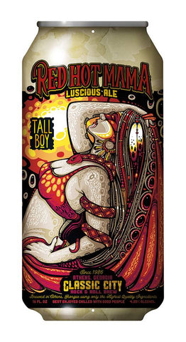 Red Hot Mama Widespread Panic Tall Boy Bar Sign Jeff Wood