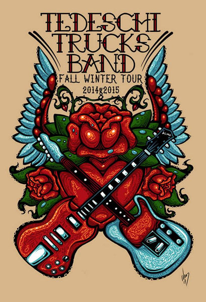 2014 & 2015 Tedeschi Trucks Band Fall Winter Tour Poster - Zen Dragon Gallery