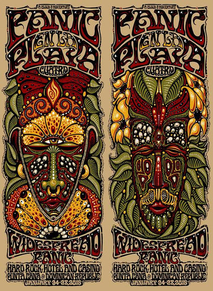 2015 Widespread Panic en la Playa Quatro ALL SIZES & VARIANTS - Zen Dragon Gallery