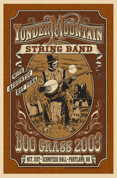 2003 Yonder Mountain String Band BooGrass Show Poster 1st Night